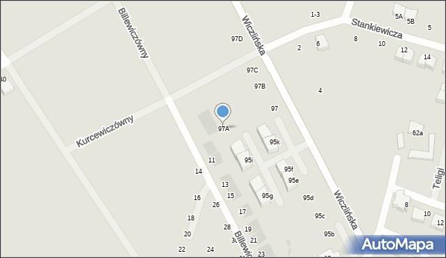 Gdynia, Wiczlińska, 97A, mapa Gdyni