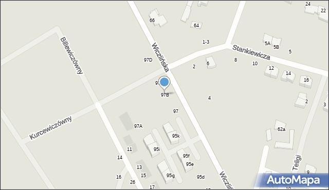 Gdynia, Wiczlińska, 97B, mapa Gdyni