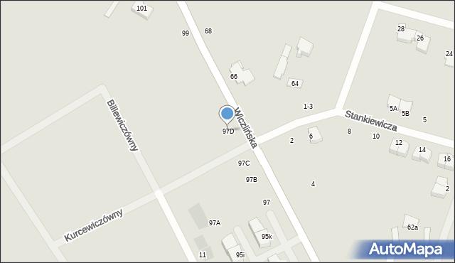 Gdynia, Wiczlińska, 97D, mapa Gdyni