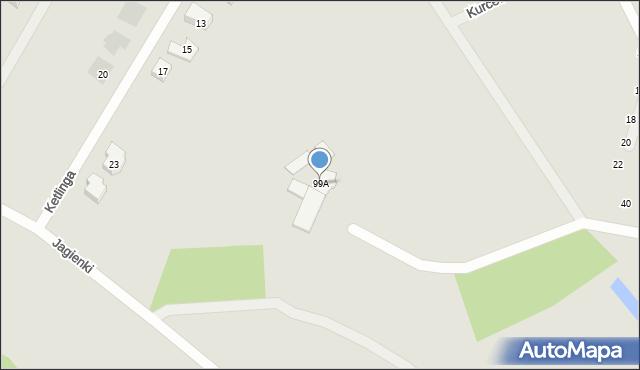 Gdynia, Wiczlińska, 99A, mapa Gdyni