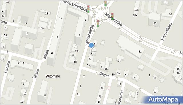 Gdynia, Wielkokacka, 3, mapa Gdyni