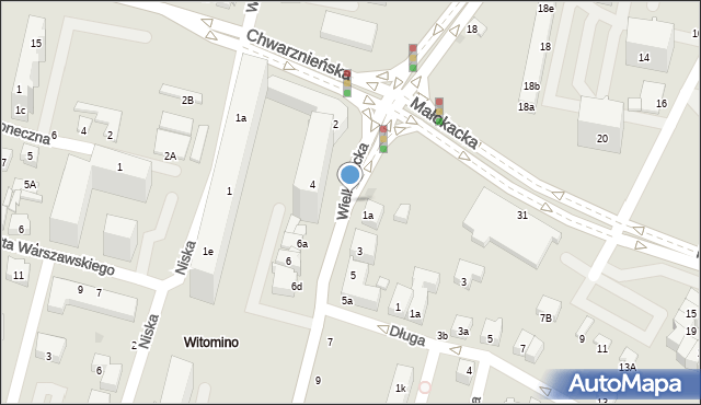 Gdynia, Wielkokacka, 4a, mapa Gdyni