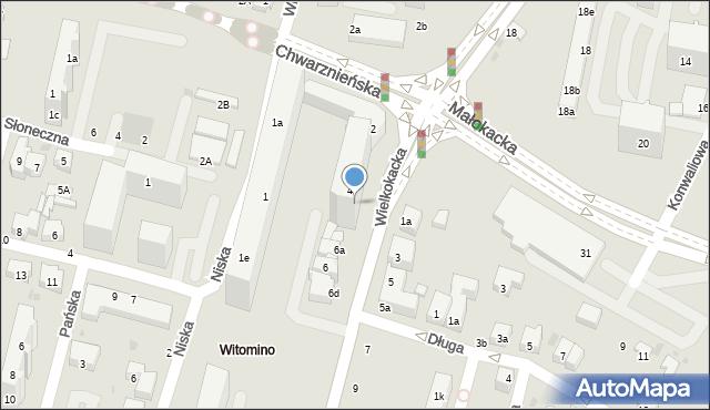 Gdynia, Wielkokacka, 4b, mapa Gdyni