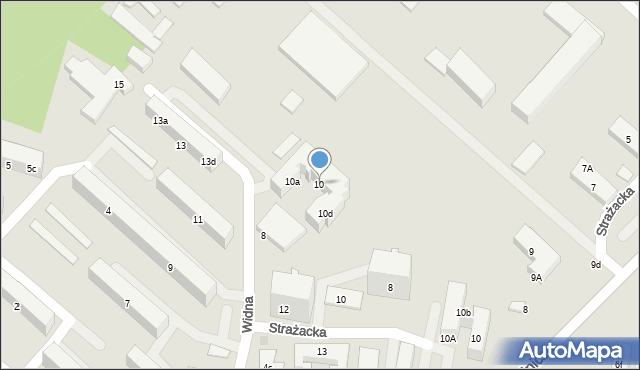 Gdynia, Widna, 10, mapa Gdyni
