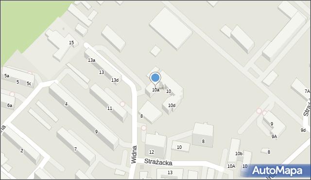 Gdynia, Widna, 10a, mapa Gdyni