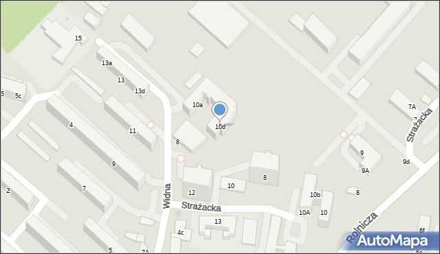 Gdynia, Widna, 10d, mapa Gdyni