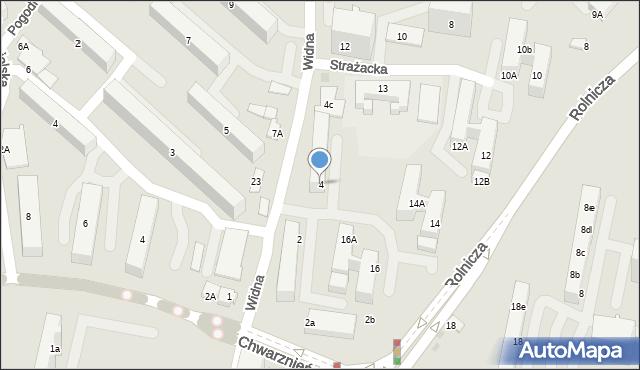 Gdynia, Widna, 4, mapa Gdyni