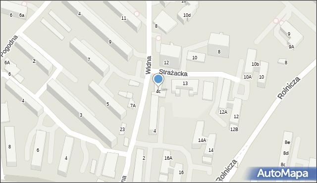 Gdynia, Widna, 4c, mapa Gdyni