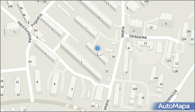 Gdynia, Widna, 5, mapa Gdyni
