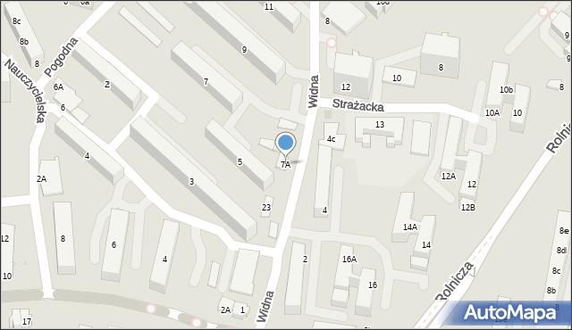 Gdynia, Widna, 7A, mapa Gdyni