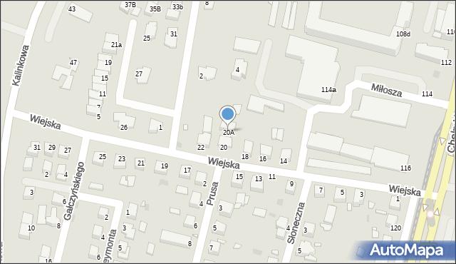 Grudziądz, Wiejska, 20A, mapa Grudziądza