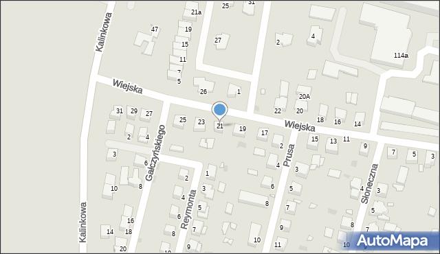Grudziądz, Wiejska, 21, mapa Grudziądza