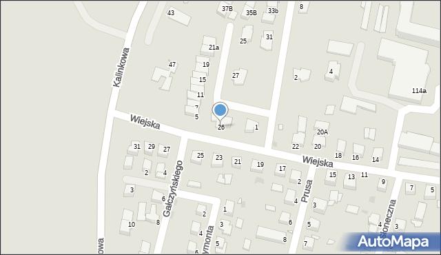 Grudziądz, Wiejska, 26, mapa Grudziądza