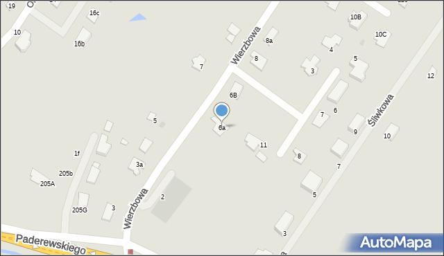 Grudziądz, Wierzbowa, 6a, mapa Grudziądza