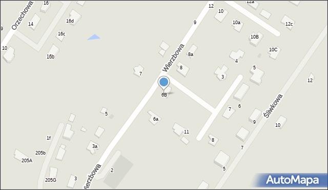Grudziądz, Wierzbowa, 6B, mapa Grudziądza