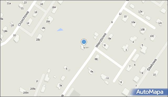 Grudziądz, Wierzbowa, 7, mapa Grudziądza