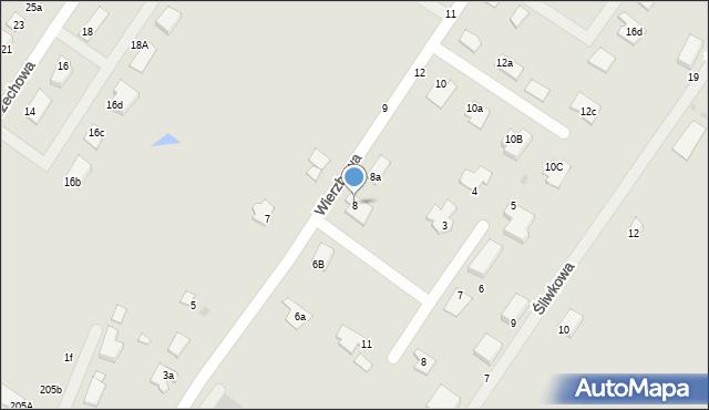 Grudziądz, Wierzbowa, 8, mapa Grudziądza