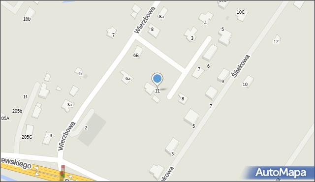 Grudziądz, Wierzbowy Zakątek, 11, mapa Grudziądza