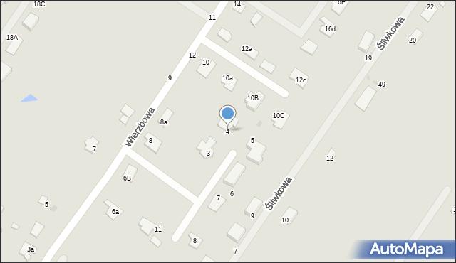 Grudziądz, Wierzbowy Zakątek, 4, mapa Grudziądza