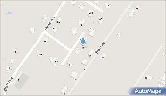 Grudziądz, Wierzbowy Zakątek, 6, mapa Grudziądza