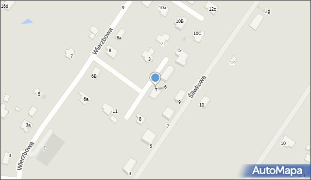 Grudziądz, Wierzbowy Zakątek, 7, mapa Grudziądza
