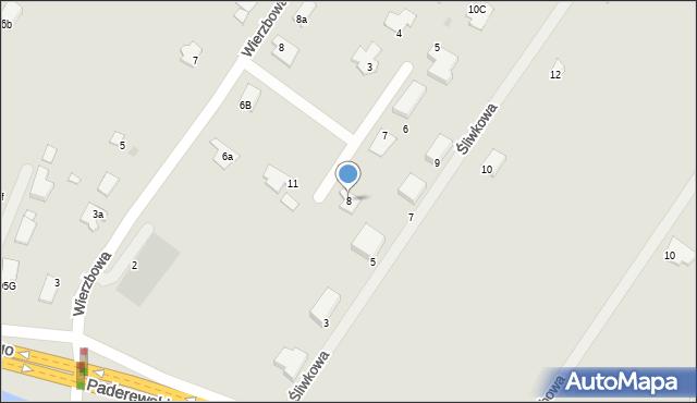 Grudziądz, Wierzbowy Zakątek, 8, mapa Grudziądza