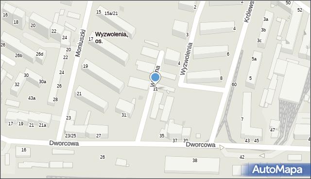 Grudziądz, Wilsona Thomasa Woodrowa, 11, mapa Grudziądza