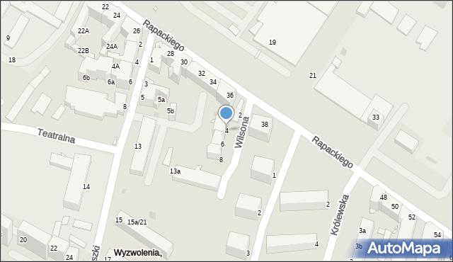 Grudziądz, Wilsona Thomasa Woodrowa, 4, mapa Grudziądza