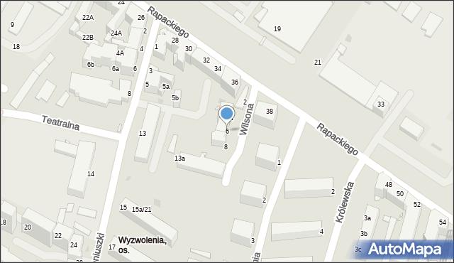Grudziądz, Wilsona Thomasa Woodrowa, 6, mapa Grudziądza