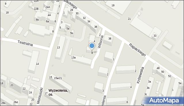 Grudziądz, Wilsona Thomasa Woodrowa, 8, mapa Grudziądza