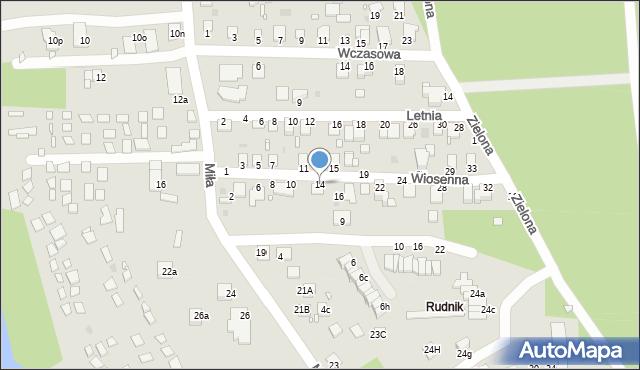 Grudziądz, Wiosenna, 14, mapa Grudziądza