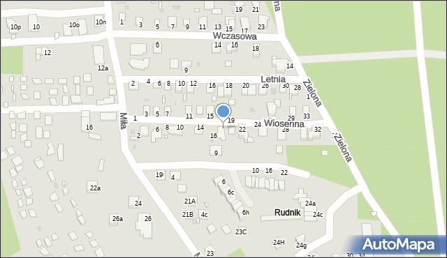 Grudziądz, Wiosenna, 18, mapa Grudziądza