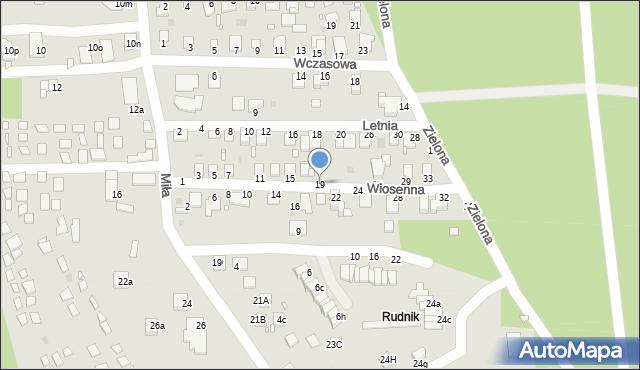Grudziądz, Wiosenna, 19, mapa Grudziądza