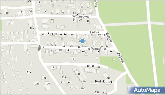 Grudziądz, Wiosenna, 21, mapa Grudziądza