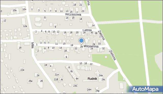 Grudziądz, Wiosenna, 24, mapa Grudziądza