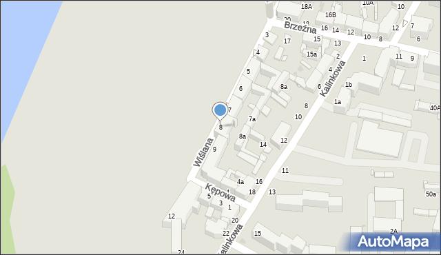 Grudziądz, Wiślana, 8, mapa Grudziądza