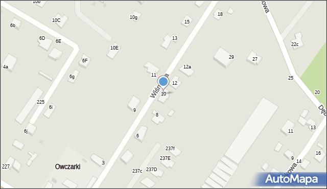 Grudziądz, Wiśniowa, 10, mapa Grudziądza