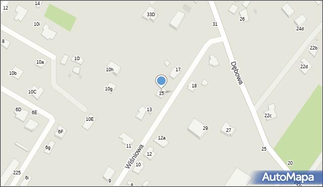 Grudziądz, Wiśniowa, 15, mapa Grudziądza