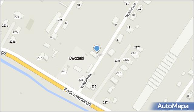 Grudziądz, Wiśniowa, 3, mapa Grudziądza