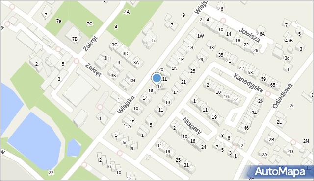 Józefosław, Wiejska, 1H, mapa Józefosław