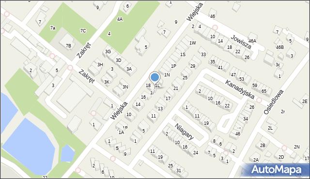 Józefosław, Wiejska, 1K, mapa Józefosław