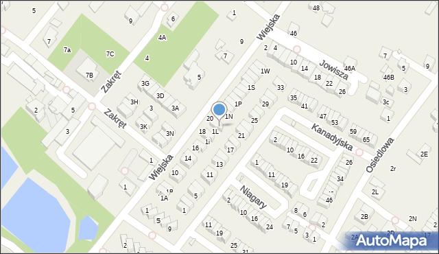 Józefosław, Wiejska, 1M, mapa Józefosław
