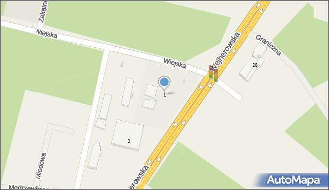 Kębłowo, Wiejska, 1, mapa Kębłowo