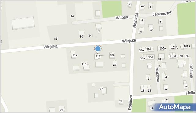 Kębłowo, Wiejska, 111, mapa Kębłowo