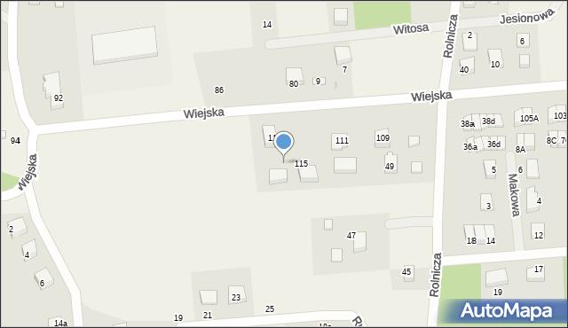 Kębłowo, Wiejska, 117, mapa Kębłowo