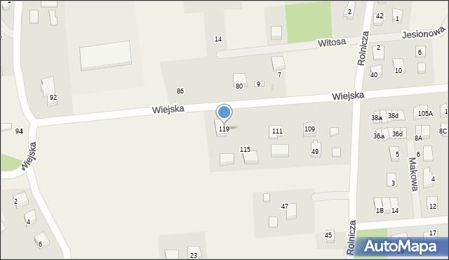 Kębłowo, Wiejska, 119, mapa Kębłowo