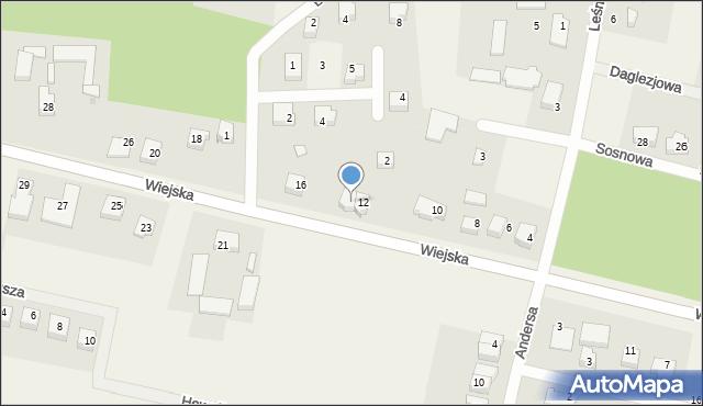 Kębłowo, Wiejska, 14, mapa Kębłowo