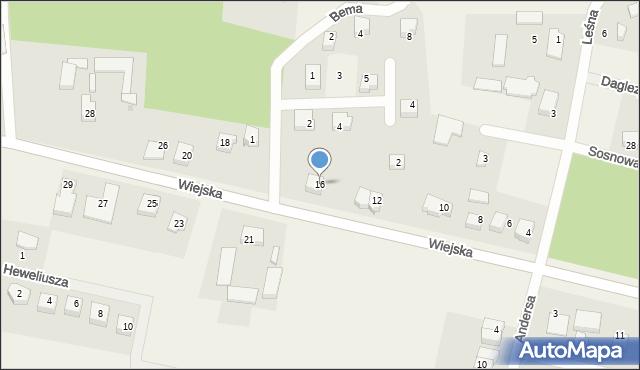 Kębłowo, Wiejska, 16, mapa Kębłowo