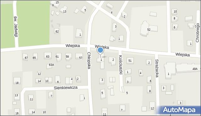 Kębłowo, Wiejska, 55, mapa Kębłowo