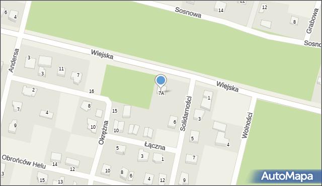 Kębłowo, Wiejska, 7A, mapa Kębłowo
